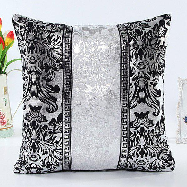 High Quality Retro Patchwork Square Shape Imitation Leather Pillow Case(Without Pillow Inner) - WHITE/BLACK