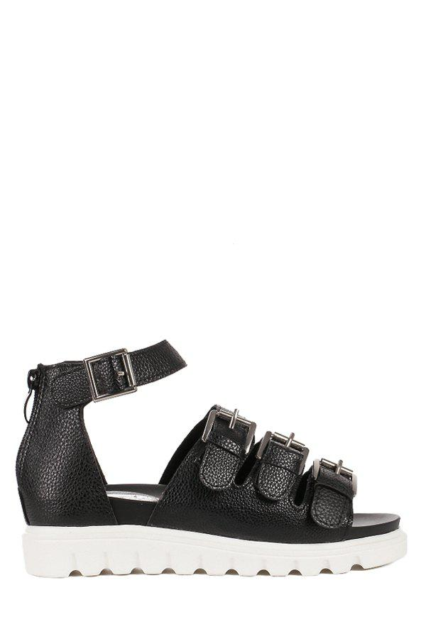 Leisure Buckles and Platform Design Sandals For Women