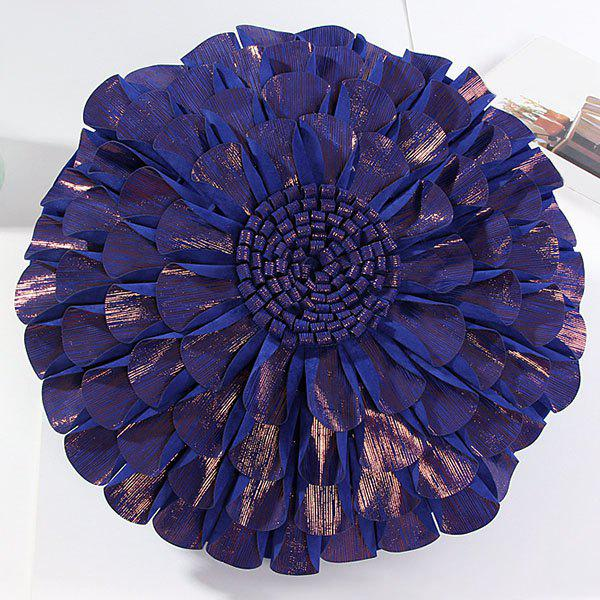 High Quality Solid Color Flower Design Round Shape Pillow Case(Without Pillow Inner)