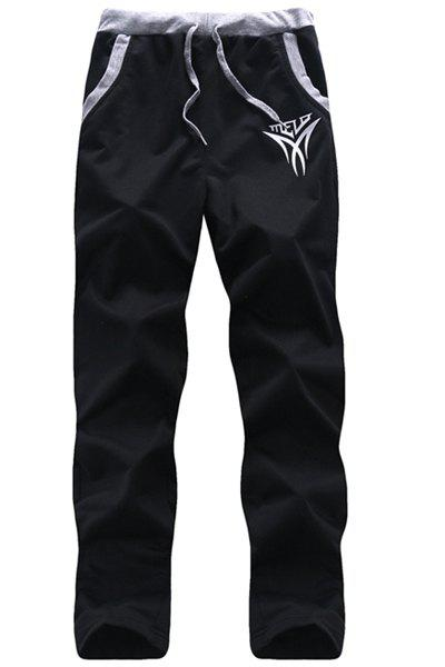 Straight Legs Lace Up Long Sports Pants For Men