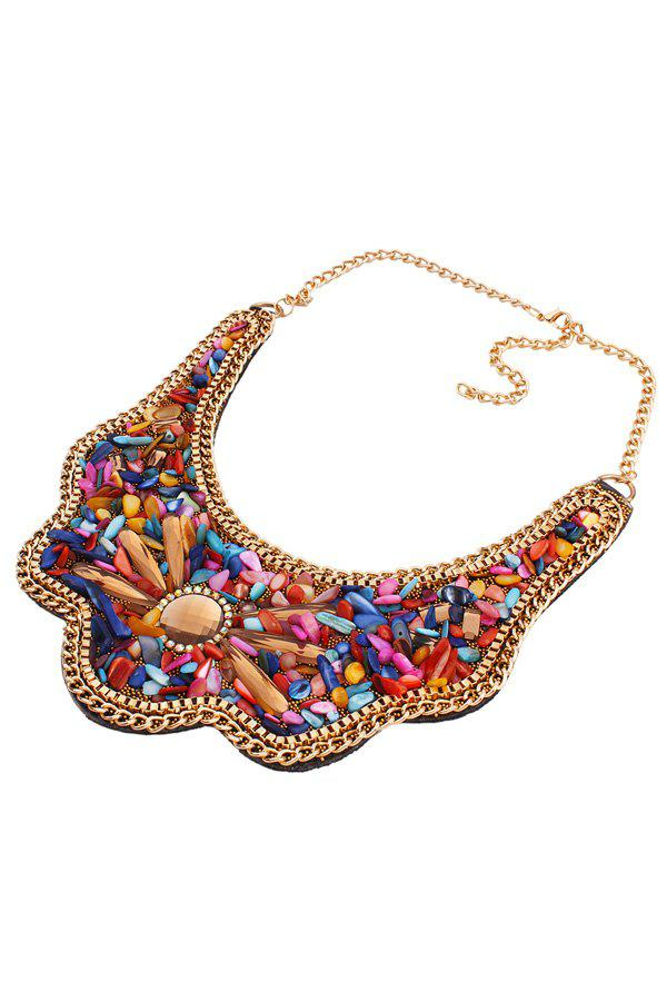 Retro Shell Fake Collar Necklace For Women - COLORMIX