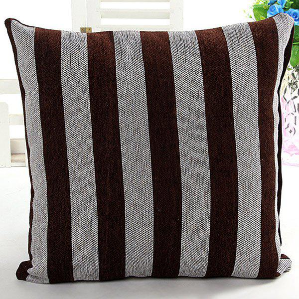 High Quality Square Shape Color Block Stripe Pattern Pillow Case(Without Pillow Inner) - COLORMIX