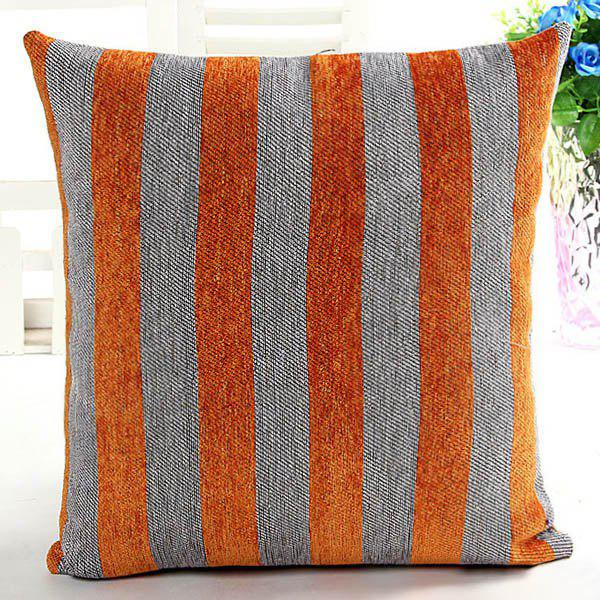 High Quality Square Shape Chenille Stripe Pattern Pillow Case(Without Pillow Inner) - COLORMIX