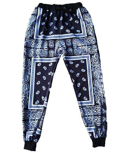 Narrow Feet Sports Style Printed Jogging Pants For Men - COLORMIX S