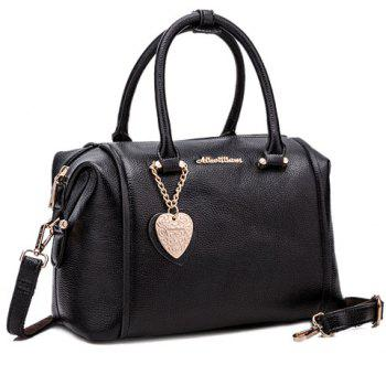 Concise Solid Colour and PU Leather Design Tote Bag For Women