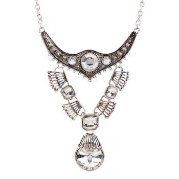 Punk Faux Crystal Water Drop Necklace For Women