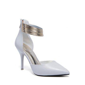 Elegant Metallic and Two-Piece Design Pumps For Women