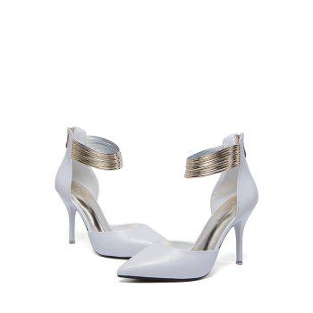 Elegant Metallic and Two-Piece Design Pumps For Women - 39 39