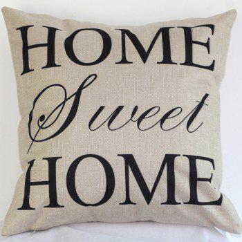 High Quality Letters Pattern Linen Cotton Pillow Case(Without Pillow Inner)