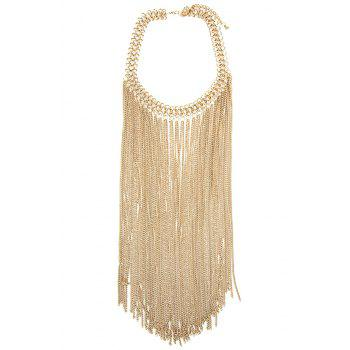 Fringed Link Chain Necklace