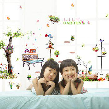 High Quality Country Style Forest Pattern Removeable Wall Stickers