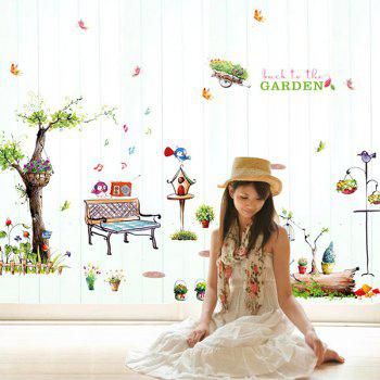 High Quality Country Style Forest Pattern Removeable Wall Stickers - COLORMIX