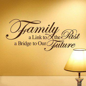 High Quality Solid Color Letter Pattern Removeable Background Wall Sticker - BLACK