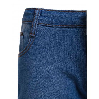 Women's High-Waisted Skinny Pencil Jeans - BLUE S