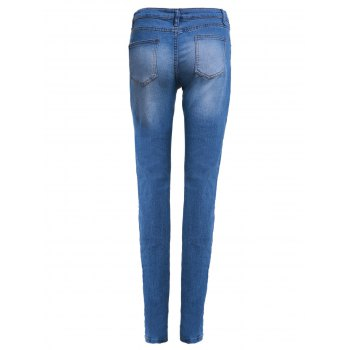Women's High-Waisted Skinny Pencil Jeans - M M