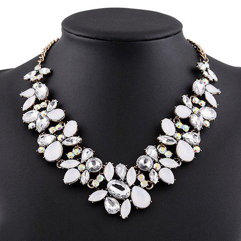 Graceful Faux Crystal Water Drop Necklace For Women
