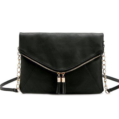 Casual Tassels and PU Leather Design Shoulder Bag For Women