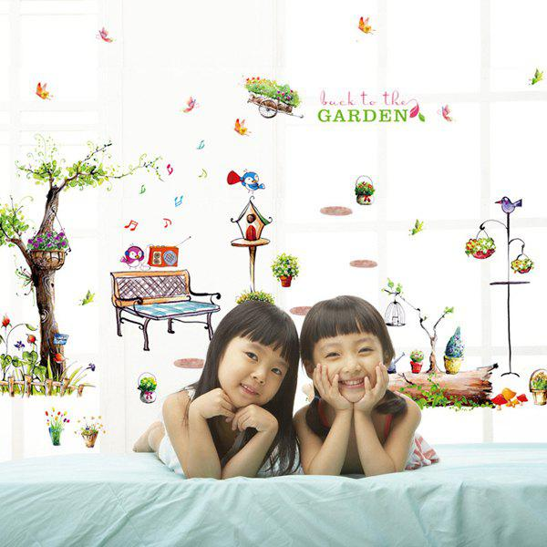 High Quality Cartoon Garden Pattern Removeable Wall Stickers
