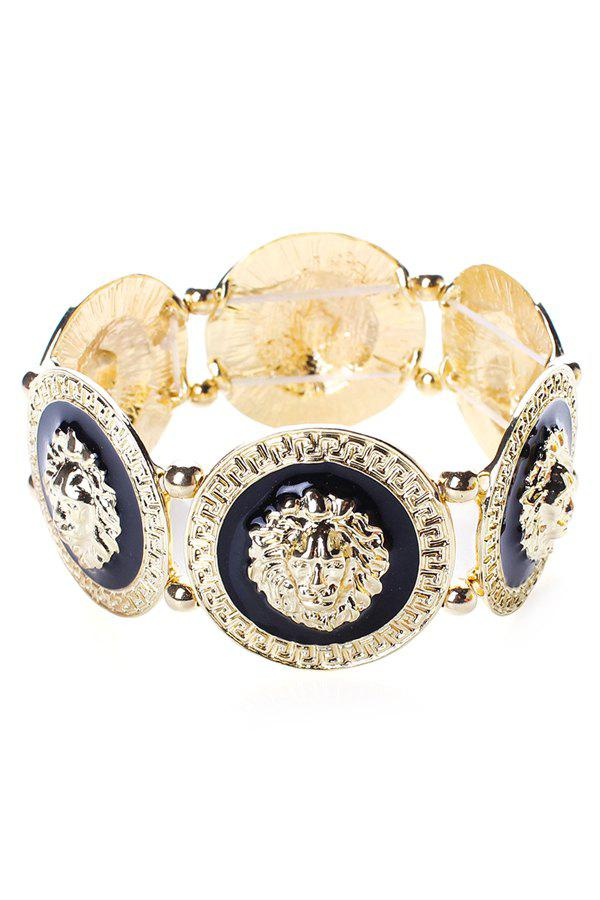 Alloy Lion Head Bracelet - GOLDEN