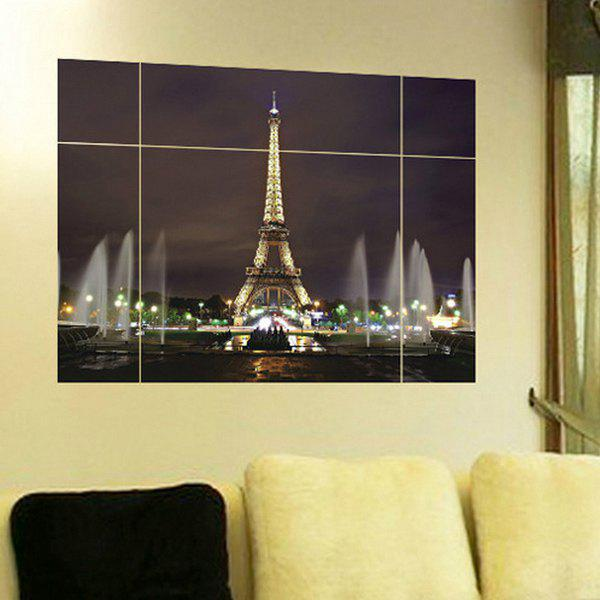 High Quality Puzzle Eiffel Tower Shape Removeable 3D Wall Stickers - COLORMIX