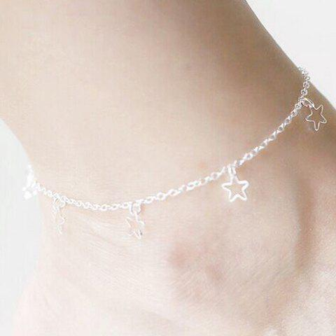Star Charm Anklet - SILVER