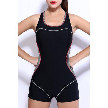 Racerback Boy Shorts One-Piece Swimsuit
