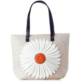 Casual Sunflower and Zipper Design Tote Bag For Women