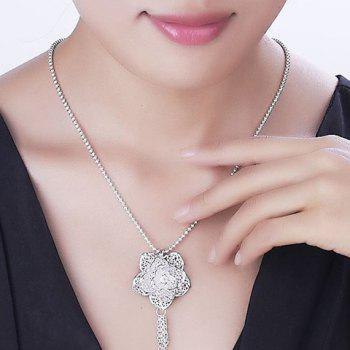 Charming Blossom Hollow Out Chains Pendant Necklace For Women