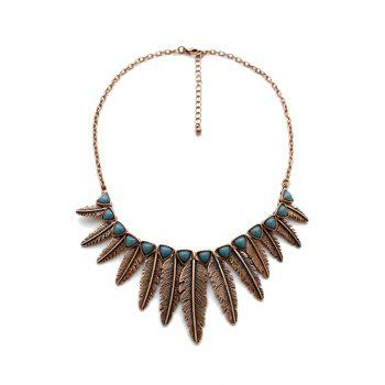 Vintage Leaf Shape Pendant Necklace