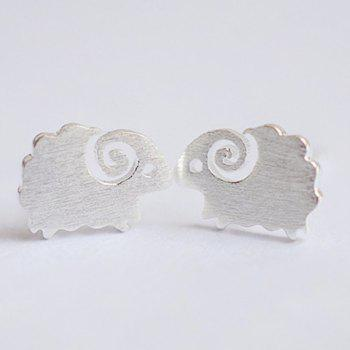 Alloy Lamb Stud Earrings - SILVER