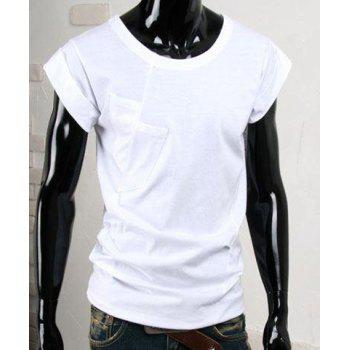 Simple Style Round Neck Solid Color Short Sleeve Men's T-Shirt