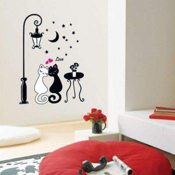 High Quality Cartoon Cat Lover Shape Removeable Wall Stickers