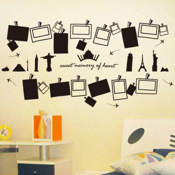 High Quality Photo Frame Shape Removeable Wall Stickers - BLACK