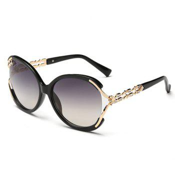 Buy Chic Rhinestone Hollow Embellished Women's Sunglasses BLACK