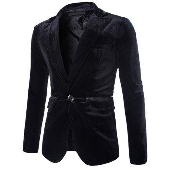 Slimming Lapel Vogue Pocket Edging Design Long Sleeve Men's Corduroy Blazer