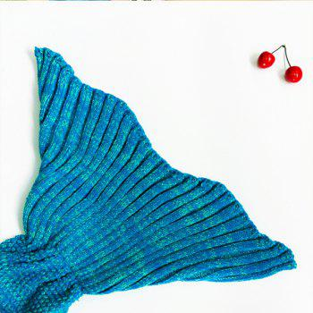 Warm Fishtail Blanket - WATER BLUE ONE SIZE(FIT SIZE XS TO M)