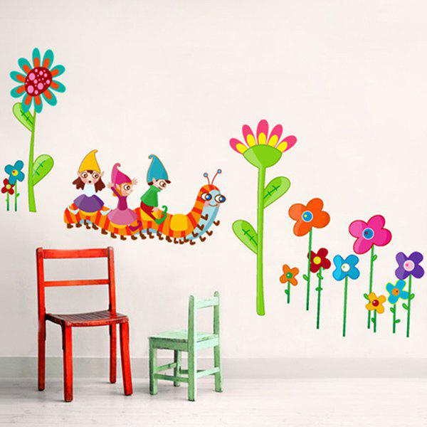 High Quality Cartoon Caterpillar Shape Removeable Wall Stickers - COLORMIX