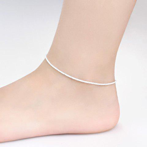 Chic Solid Color Anklet For Women - SILVER