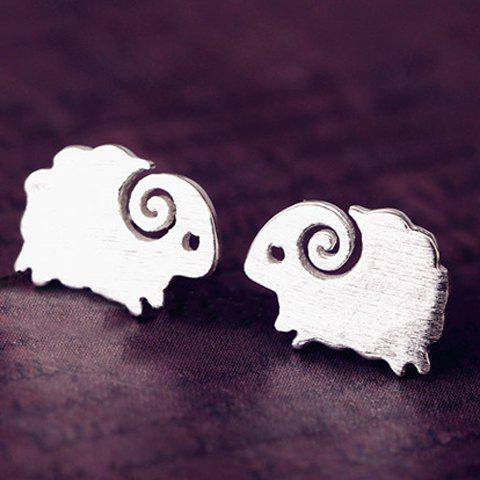 Cute Solid Color Lamb Stud Earrings For Women