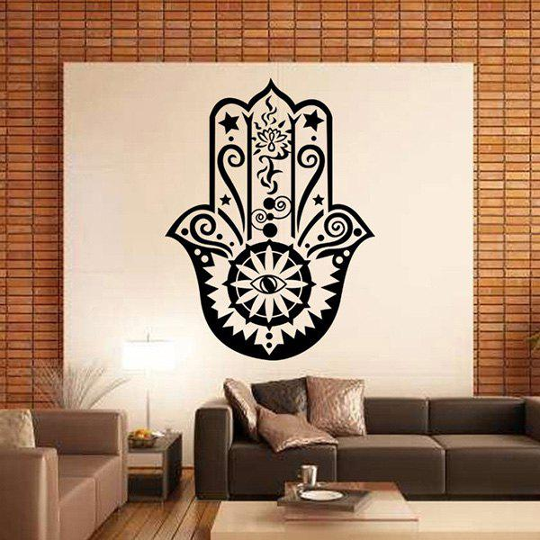 High Quality Black Islam Culture Symbol Pattern Removeable Wall Stickers