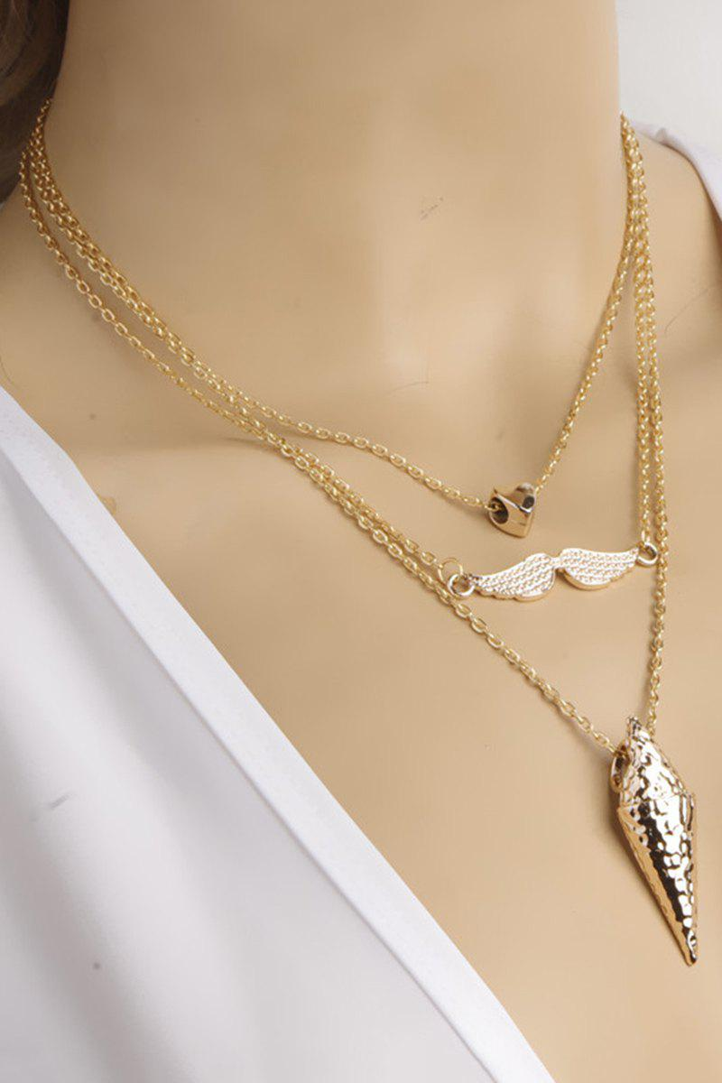 Punk Three Layered Necklace - GOLDEN
