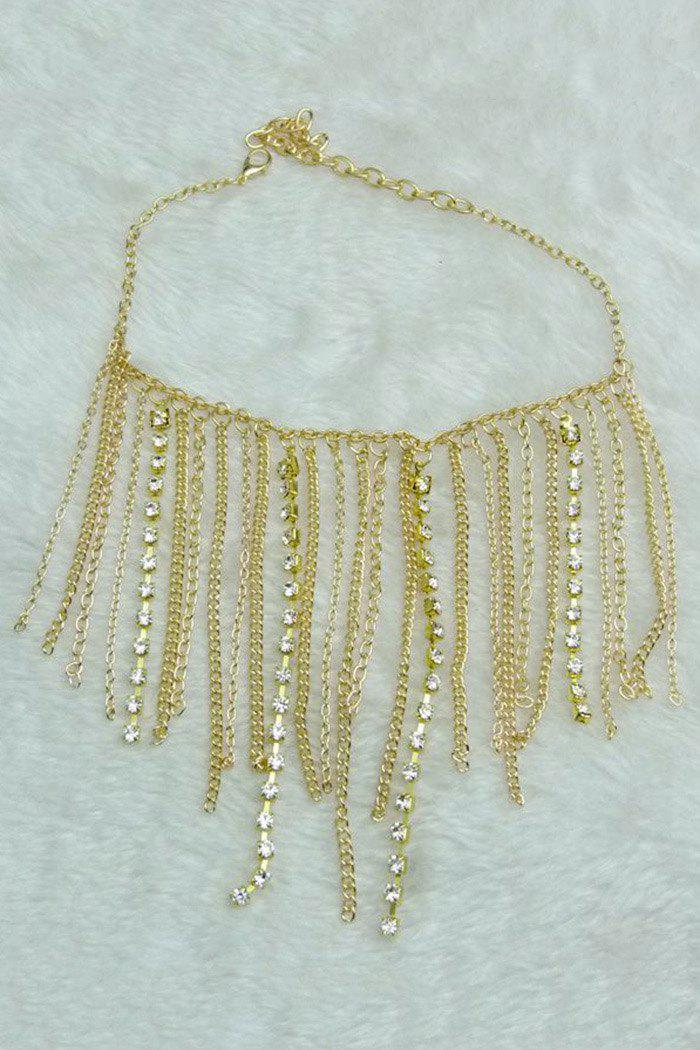 Stylish Rhinestoned Link Chain Anklet For Women
