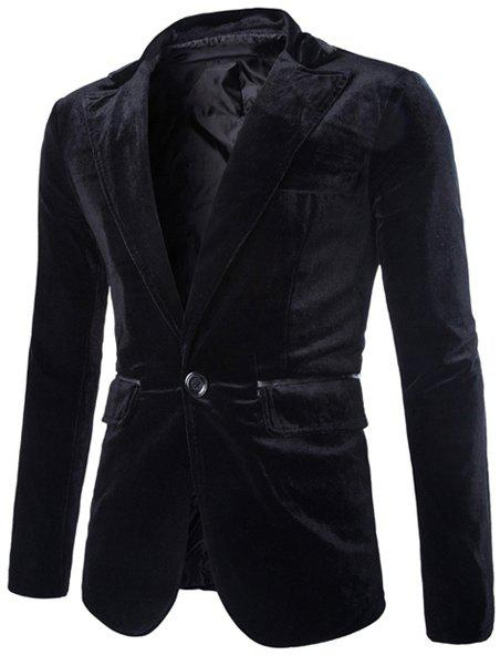 Slimming Lapel Vogue Pocket Edging Design Long Sleeve Men's Corduroy Blazer slimming lapel vogue pocket edging design long sleeve men s corduroy blazer