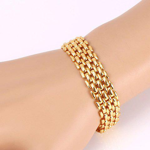 Chic Alloy Hollow Out Bracelet For Women - GOLDEN