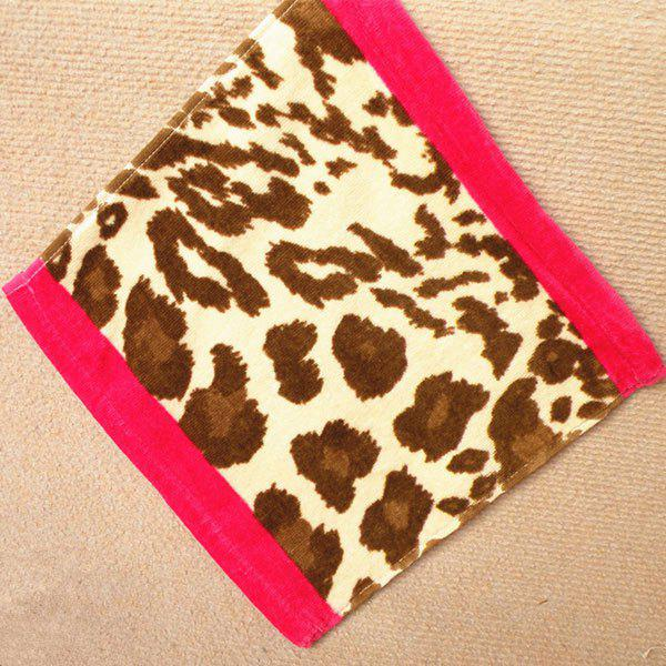 Stylish Absorbent Leopard Printing Square Shape Face Towel - LEOPARD