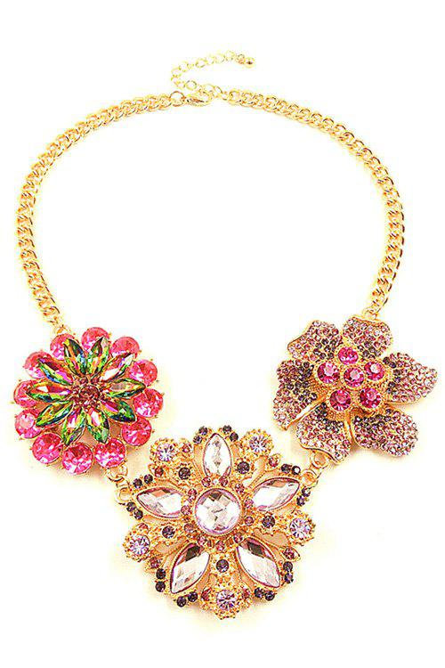 Noble Faux Crystal Flower Necklace For Women