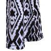 Vintage Women's High-Waisted Geometric Printed Pants - BLACK M