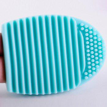 Cosmetic Makeup Brush Cleaning Tool Silicone Wash Board - GREEN