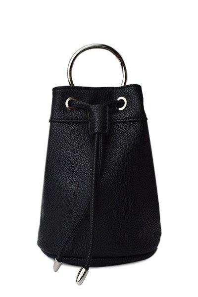 Leisure Metal Ring and String Design Tote Bag For Women - BLACK
