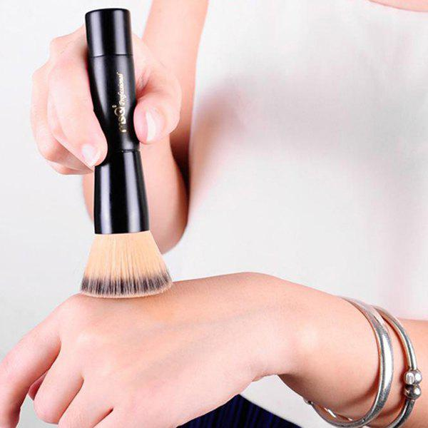 Cosmetic Flat Fine Fiber Powder Brush Foundation Brush - BLACK